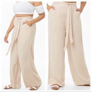 Forever 21 | Plus Size Tan Wide Leg Pants